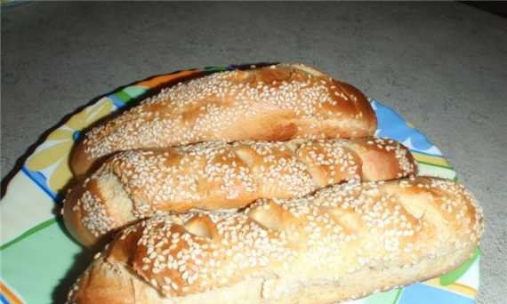 Moulinex 6002OW. Baguettes with sesame seeds