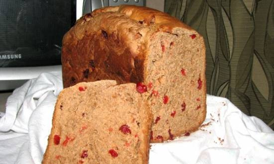 Cottage cheese-chocolate sweet bread (bread maker)