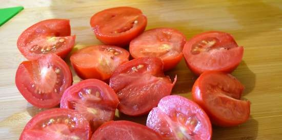 Canned vegetable salad (without oil and without sautéing onions)