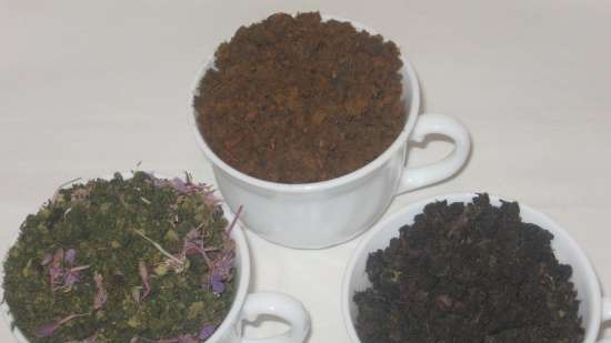 Fermented tea made from leaves of garden and wild plants (master class)
