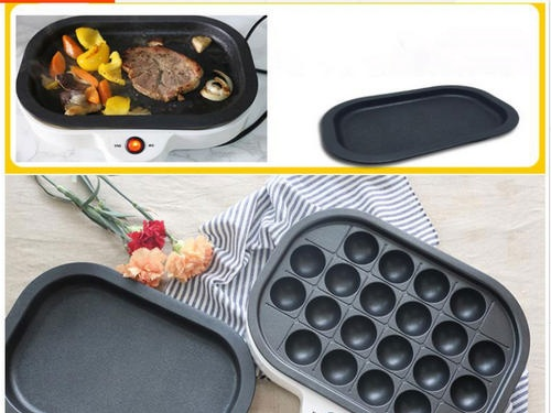 Multifunctional grill with replaceable panels (including takoyaki)