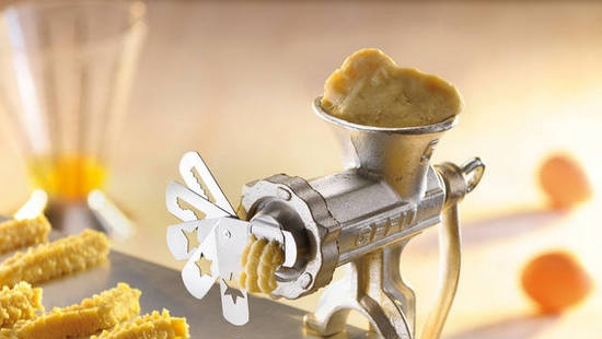 Tool for making cookies with a meat grinder
